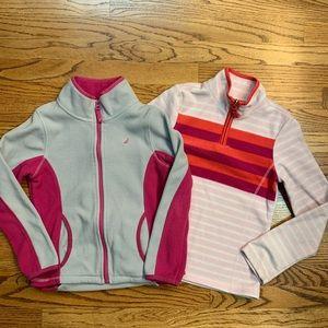 Set of 2 sweatshirts full and 1/4 zip